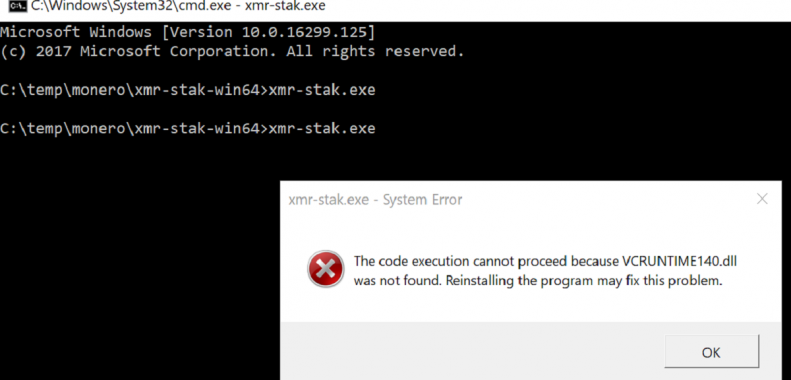 the code execution cannot proceed because vcruntime140.dll was not found