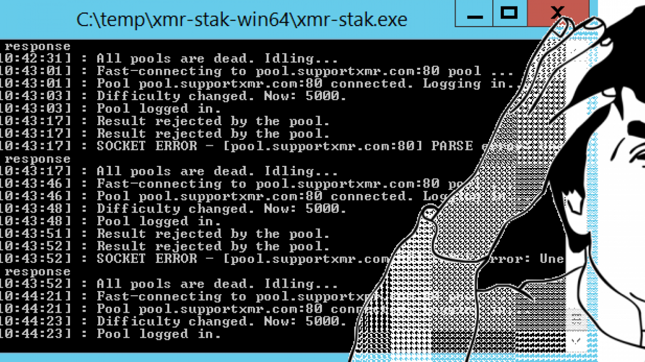 XMR-Stak – All pools are dead  Idling  FIXED – iblogit