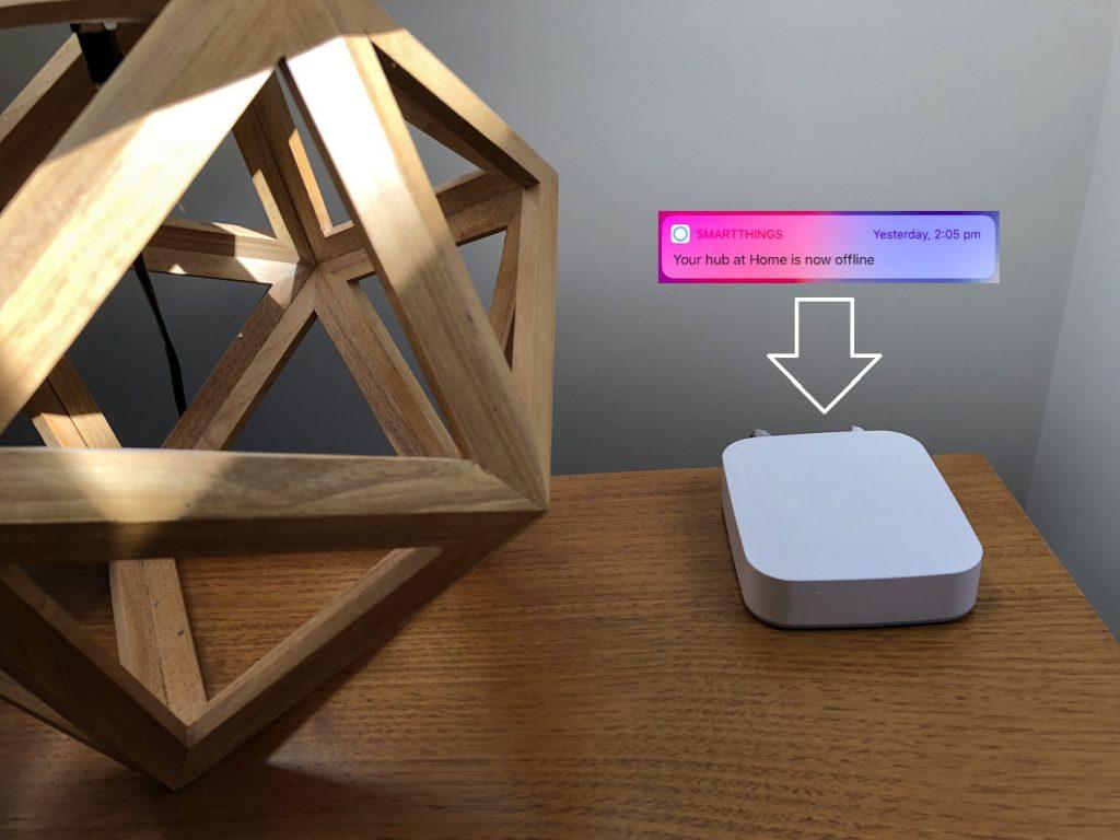 SmartThings hub keeps going offline – fixed – iblogit