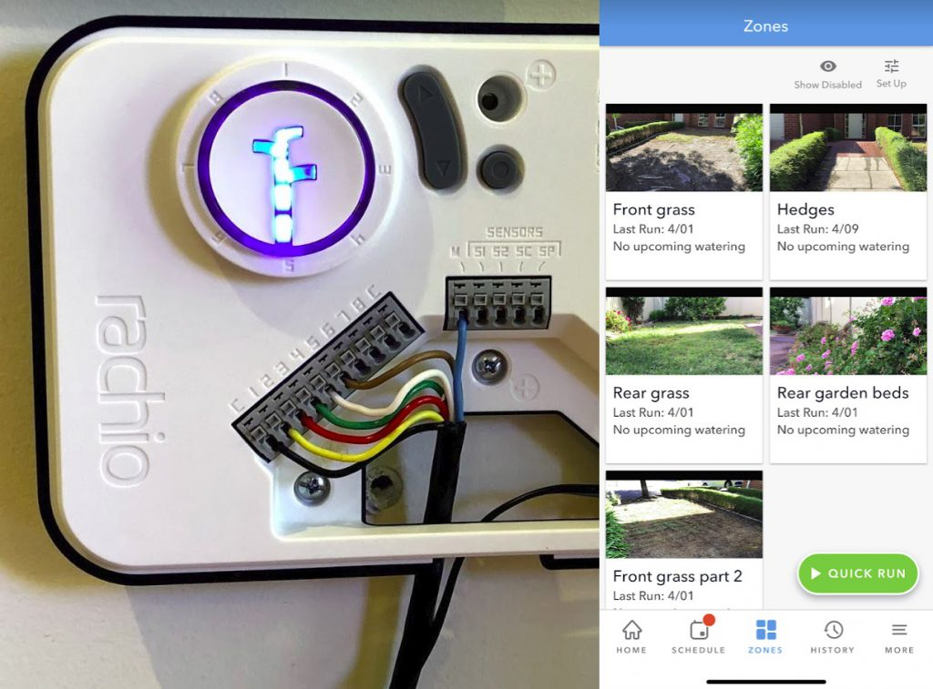 rachio smart sprinkler controller connections