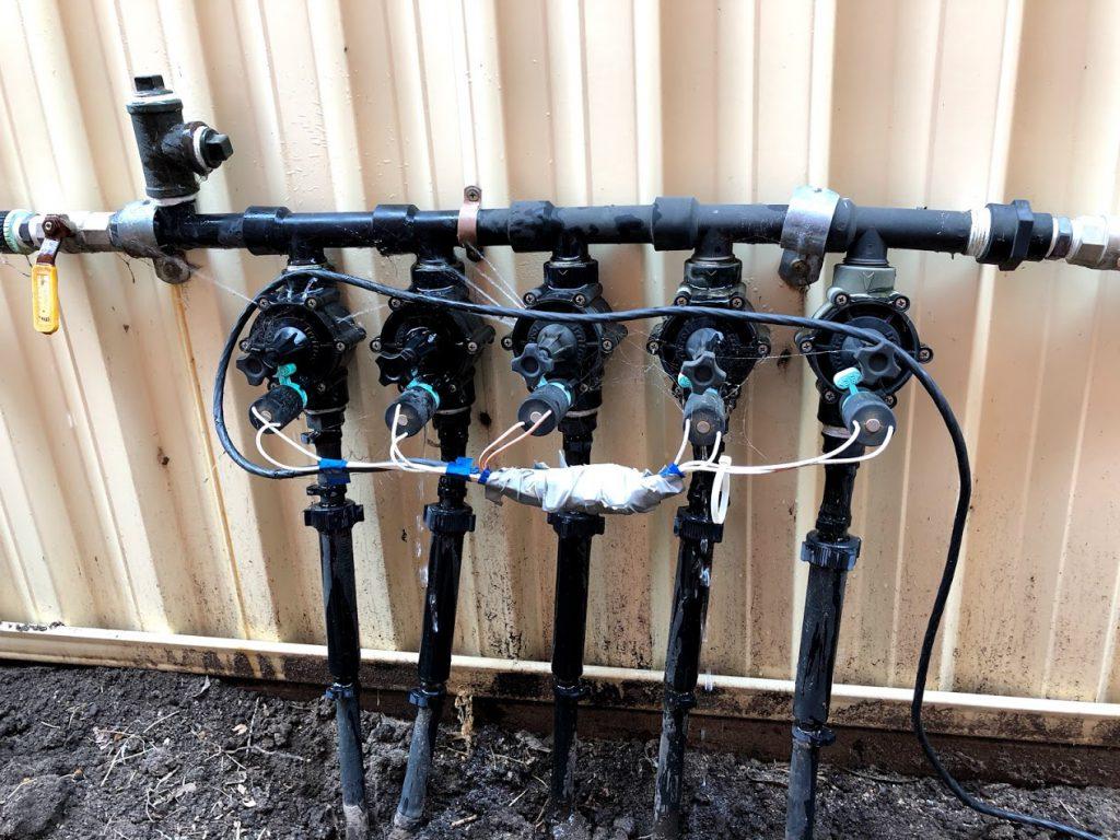 leaking sprinkler solenoid manifold