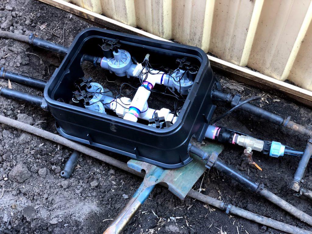 sprinkler system solenoid manifold pit customisation