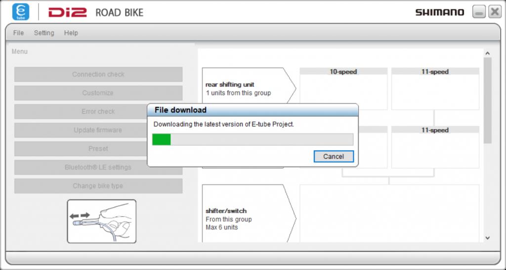 Shimano E-tube project new version download
