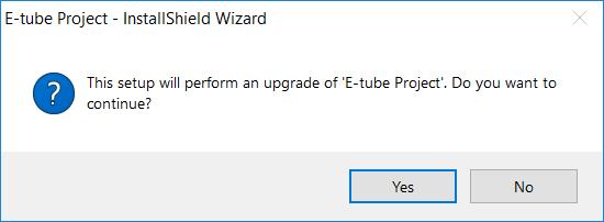 Shimano E-tube project installshield wizard