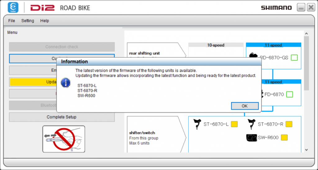 Shimano E-tube project firmware information
