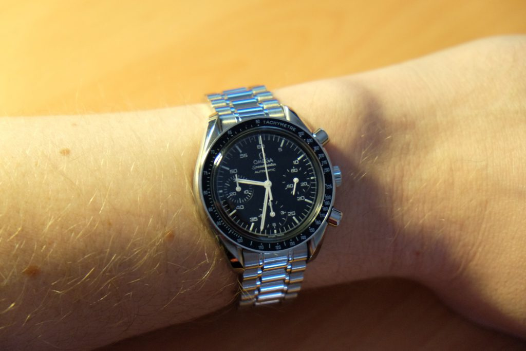 omega speedmaster 3510.50 on the wrist