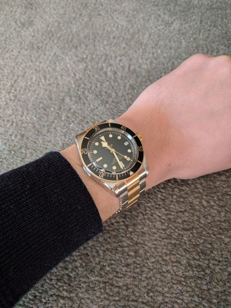 tudor M79733N on the wrist